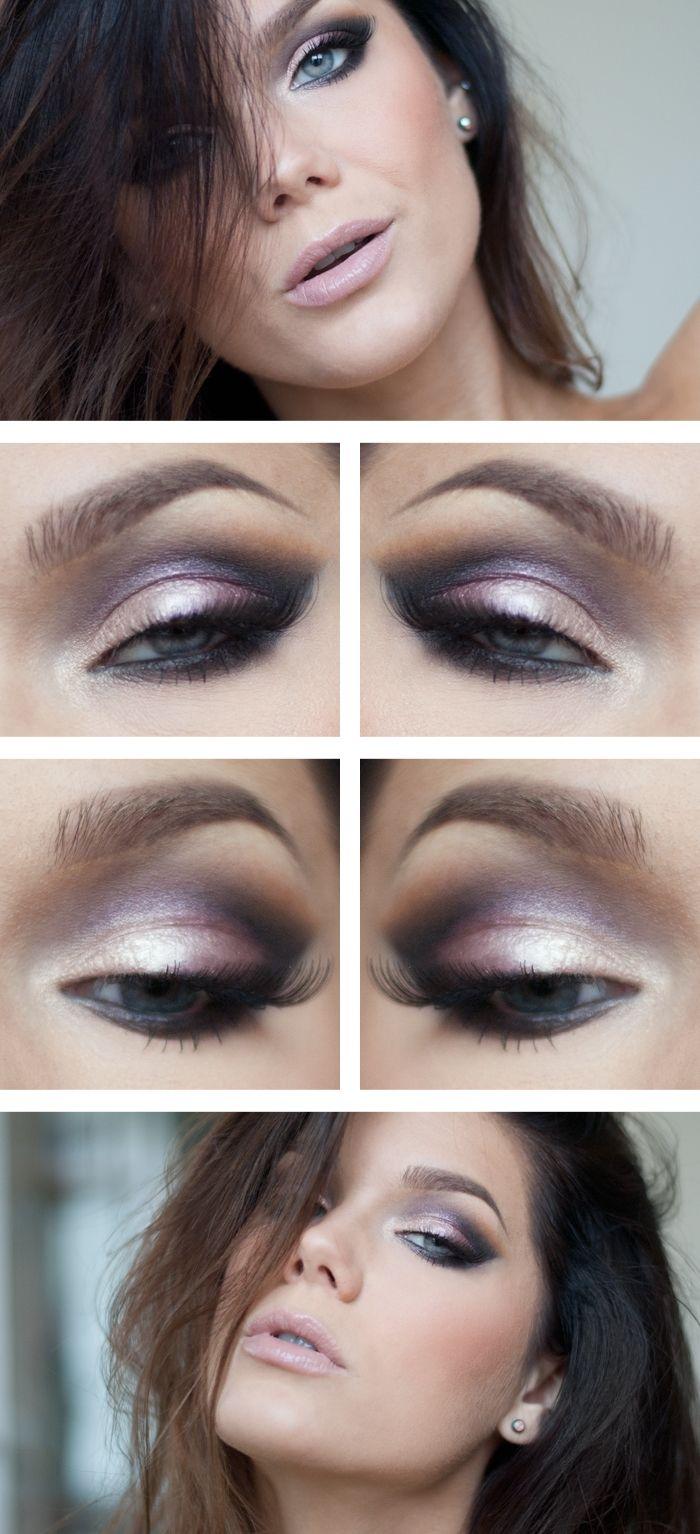 Eyeshadow idea, love the purpley color.