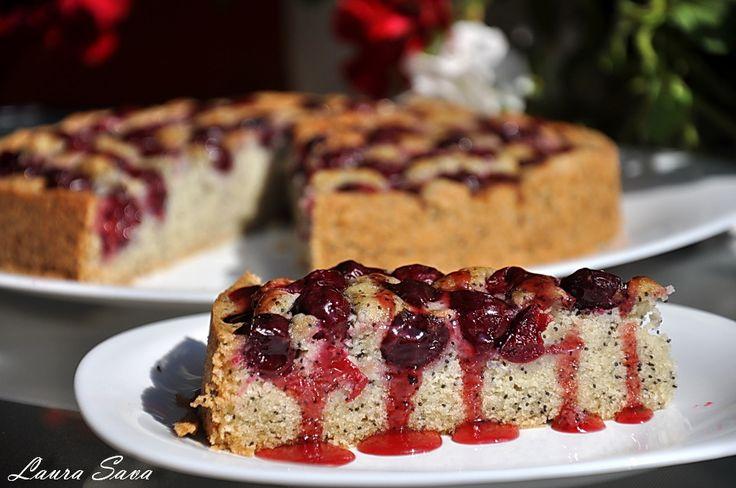Tort de post cu visine si nuca de cocos | Retete culinare cu Laura Sava - Cele mai bune retete pentru intreaga familie