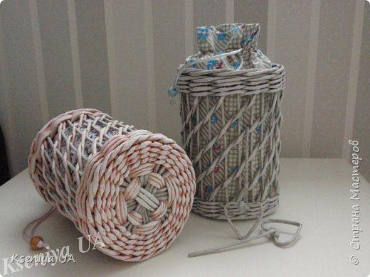 Поделка изделие Плетение Осенние мотивы Трубочки бумажные фото 2