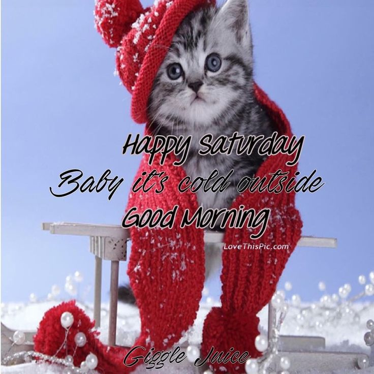 Happy Saturday Good Morning Its Cold Outside