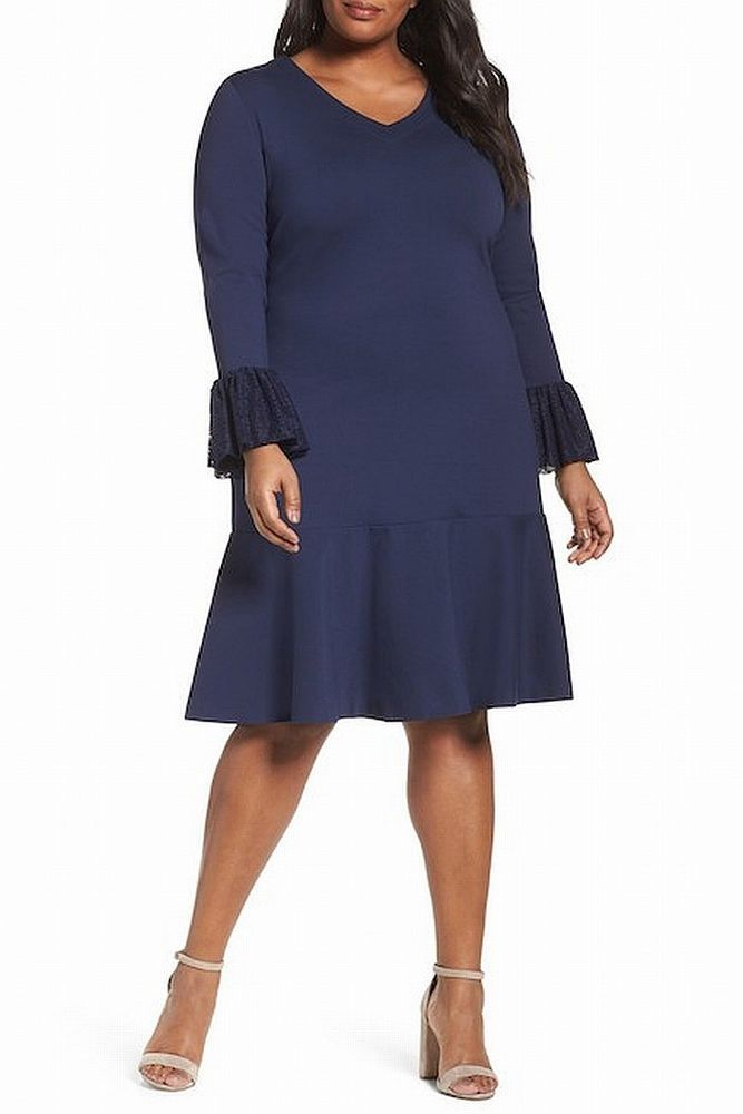 85ba0e5a3 Sejour NEW Navy Blue Women's Size 20W Plus Lace Flare Cuff A-Line Dress  #061 #fashion #clothing #shoes #accessories #womensclothing #dresses (ebay  link)