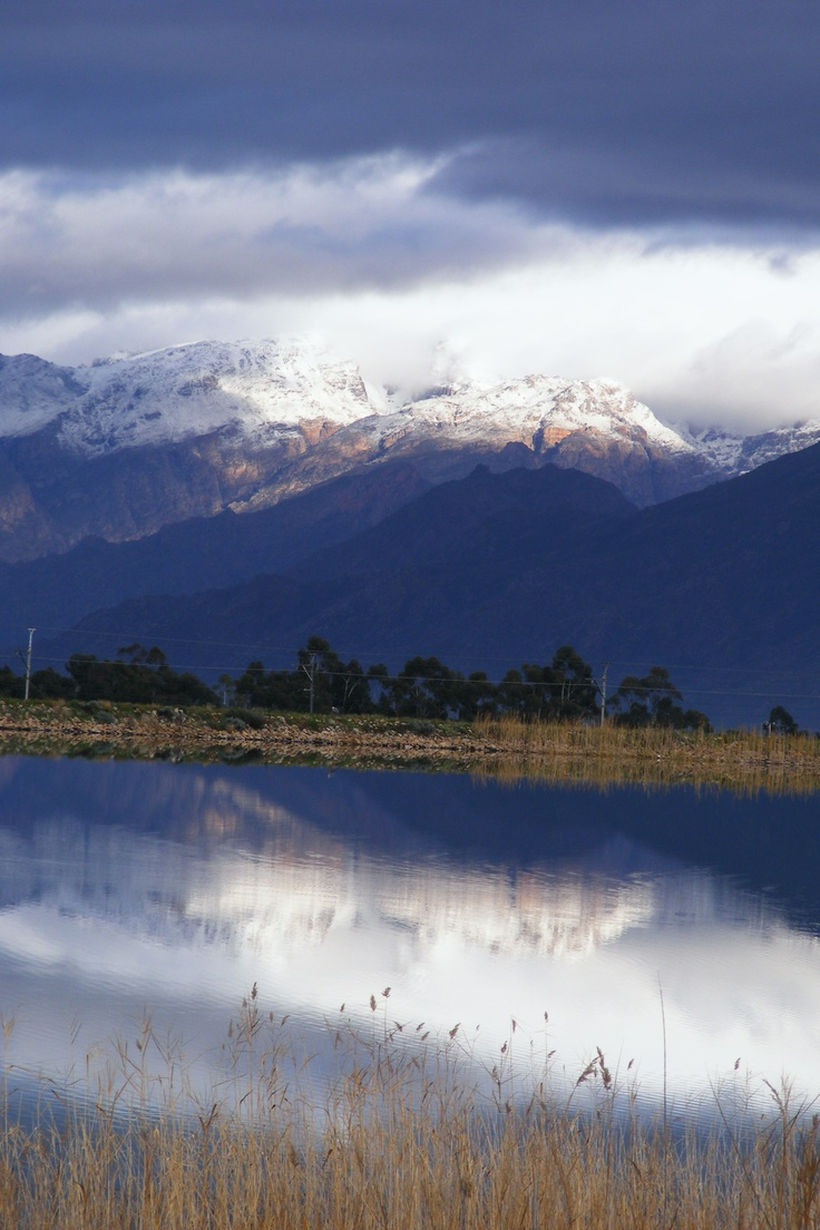 Snow in the Hex River Valley. Photo taken by Megan on Sunday 15 July 2012