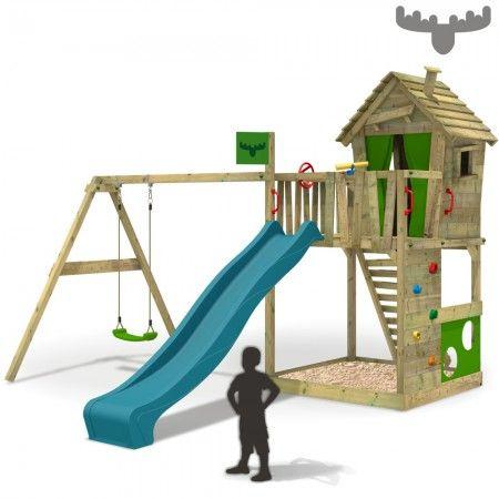 spielturm mit schaukel happyhome hot xxl kinderspielger t fatmoose 649 spielturm garten. Black Bedroom Furniture Sets. Home Design Ideas