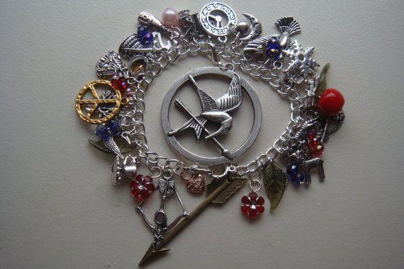 Hunger Games  Tibetan Siver Charm Bracelet by Handmadebycazz, £10.00