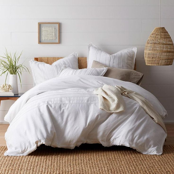 Beachcomber Cotton Duvet Cover Full Duvet Cover White Duvet White Duvet Covers
