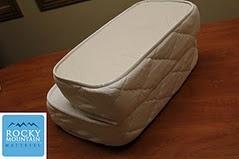 Another shot of the folding RV mattress made by Rocky Mountain Mattress.