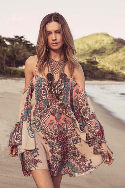 Estampa Gypsy para Adriana Degreas - Resort 2015