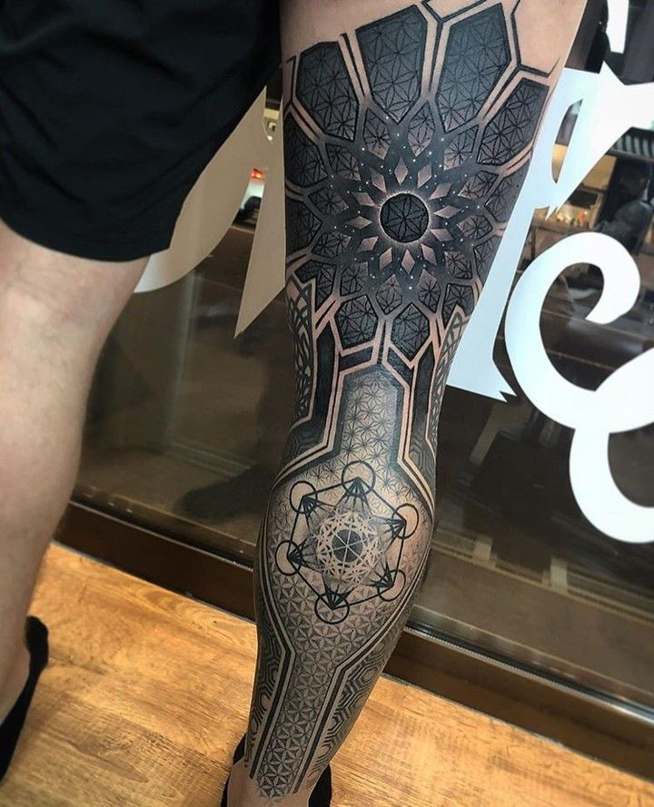 Full Leg Sleeve Mandala Leg Tattoos Geometric Tattoo Leg Polynesian Tattoo