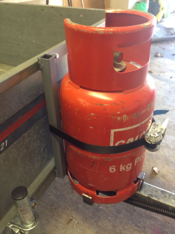 Propane tank holder | camping trailer project. | Pinterest ...
