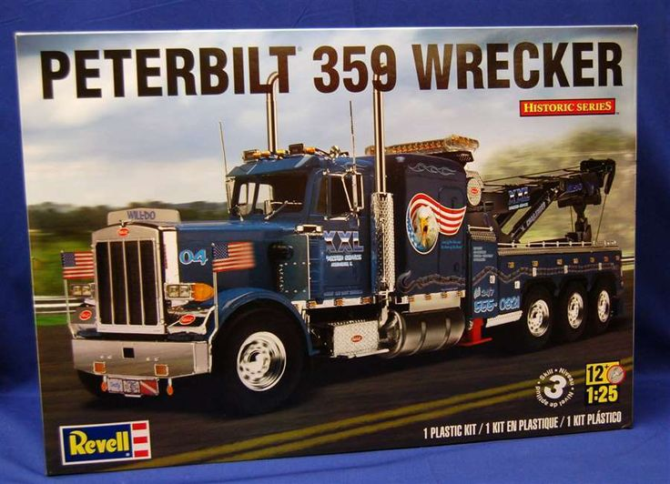 1 25 Scale Revell Peterbilt 359 Wrecker With Can Do Decal