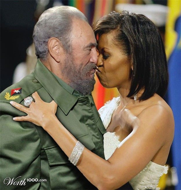 Fidel Castro and Michelle Obama | this says it all & it is sickening to see as An American & she claims to be our First Lady?