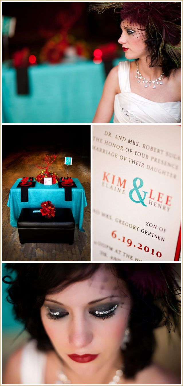 Modern Red And Teal South Dakota Wedding