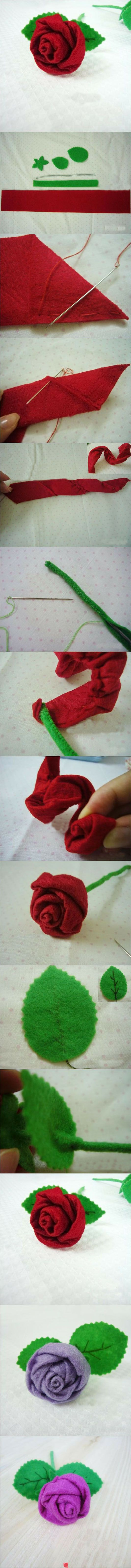 This is a different take on the ribbon rose - pre-crease the ribbon, and then just roll it?    BACK TRACK to the source and see the great stuff on this board