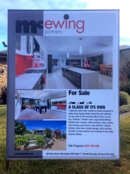 E2 real estate boards for real estate - Briner Signage Solutions