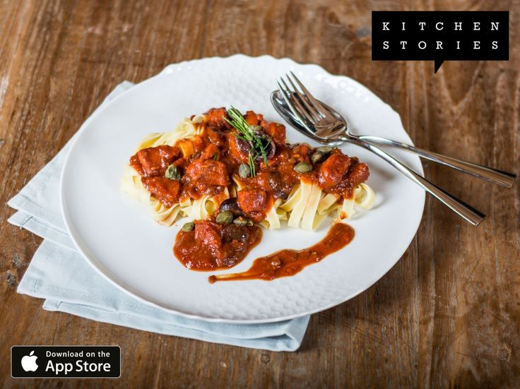 """I am cooking """"Pasta Puttanesca"""" with @1KitchenStories - Download http://itunes.apple.com/app/id771068291"""