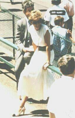 Rare picture of Princess Diana.