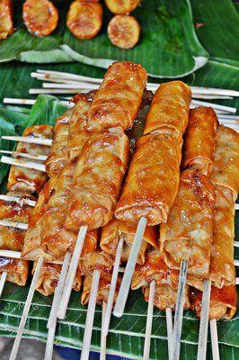 Recipe for Turon de Saba - Filipino Deep Fried Caramalized Plantains
