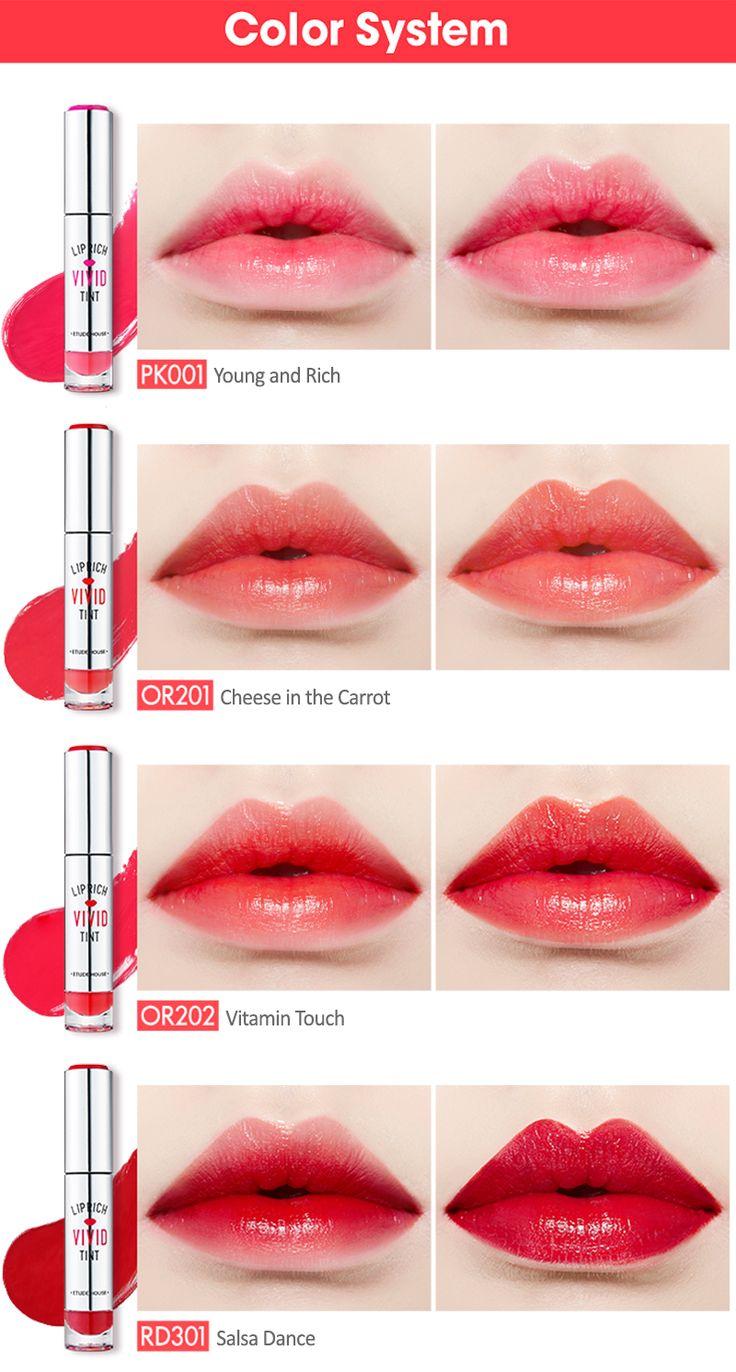 Lip Rich Vivid Tint   Etude House Lip Swatches #1