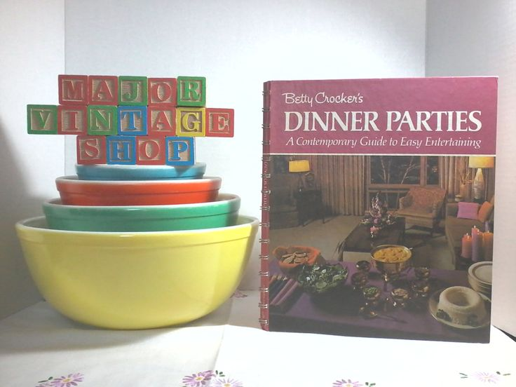 "Betty Crocker's ""Dinner Parties"" Cookbook by MajorVintageShop on Etsy"