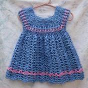 Blue Powder Puff Toddler Dress  - via @Craftsy