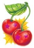 Star Cherries Glitter Tattoo
