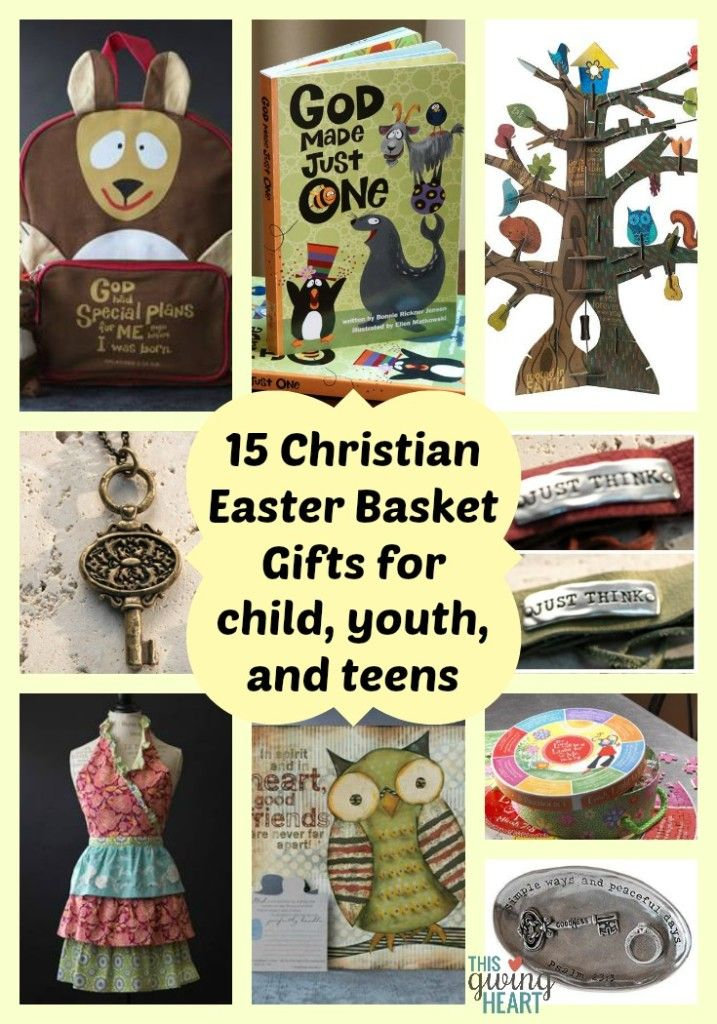 171 best ester images on pinterest easter ideas easter and 15 christian easter basket gift ideas for any child youth or teenager that reminds negle Gallery