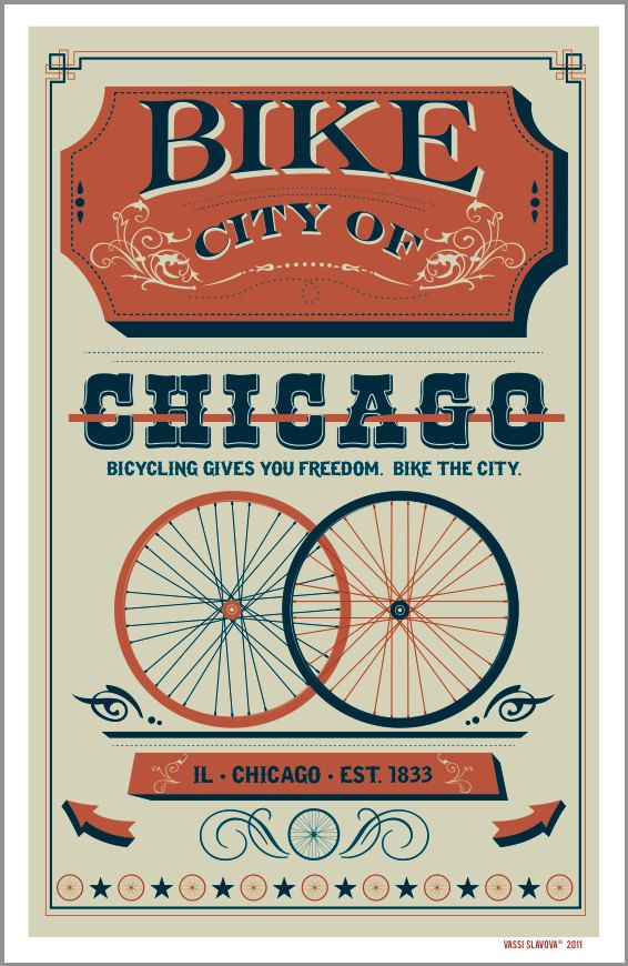 Retro Bike Poster - Custom Vintage Style Print 11x17