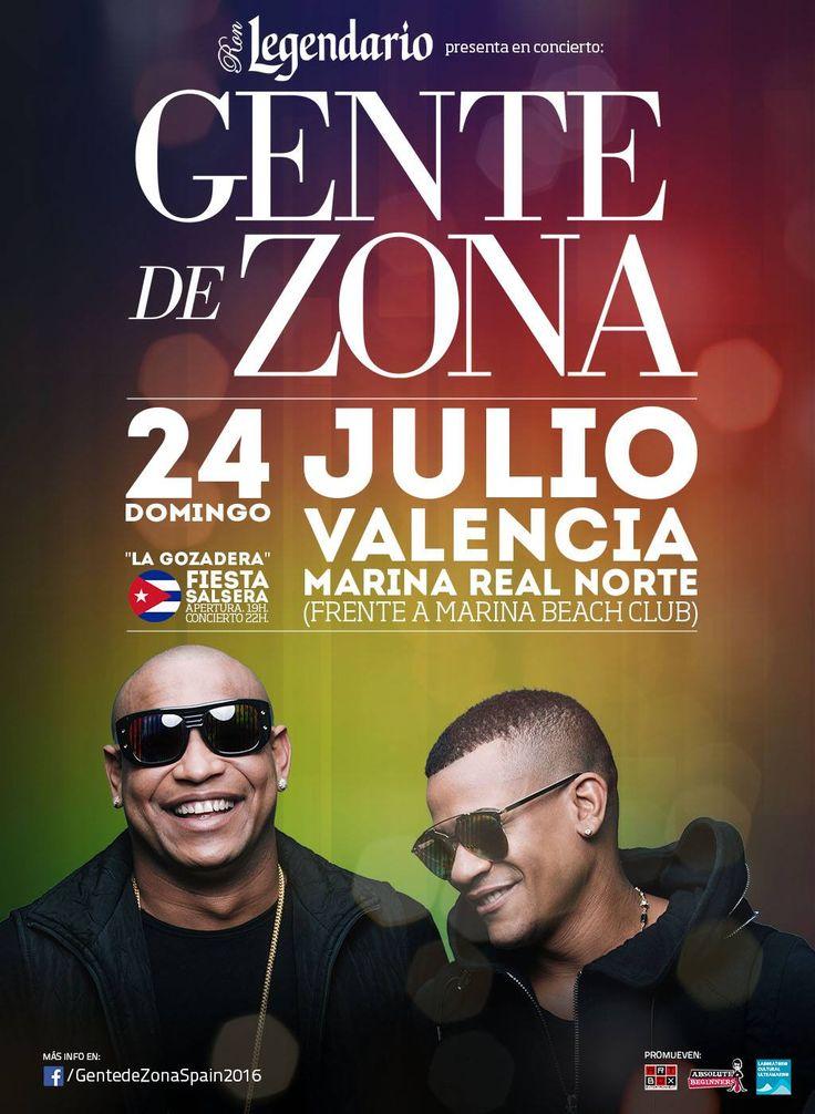 Concierto de Gente de Zona en Valencia