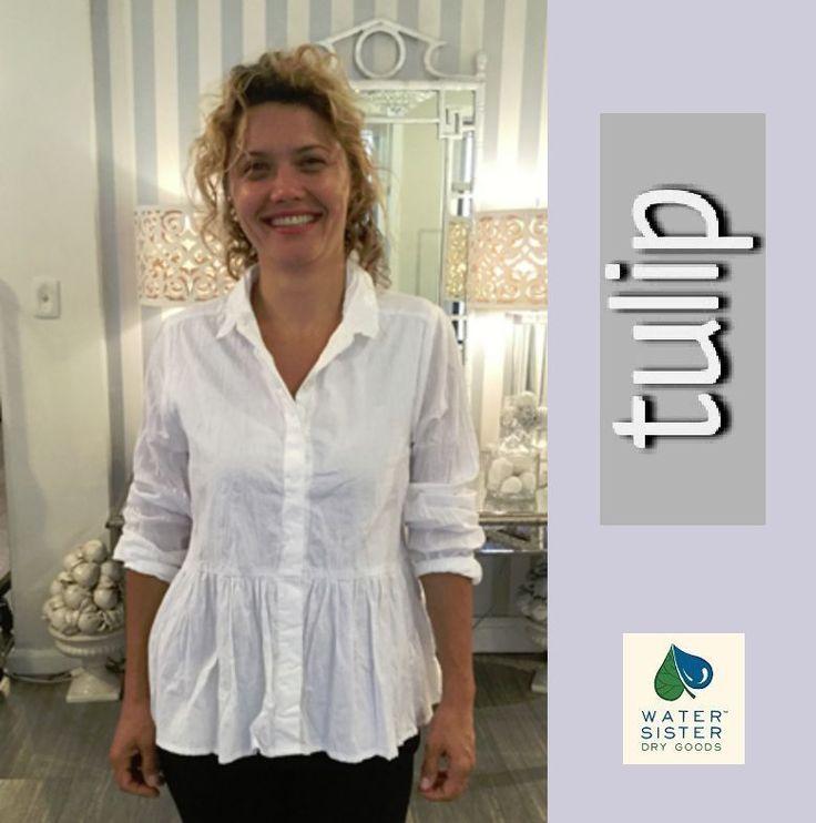 TULIP  CV734  Cotton Hi-Lo Peplum  PRAIRIE SHIRT  Blouse   XS S M L XL  WHITE #TULIPUSA #Blouse #Versatile