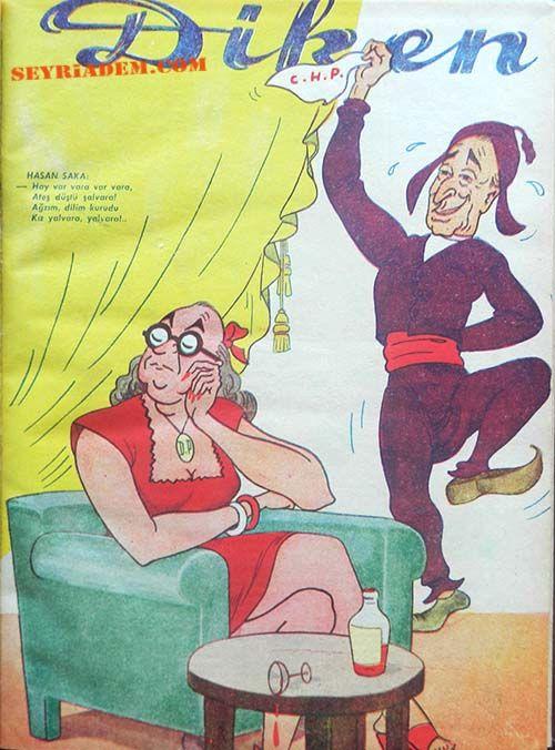 Diken-1947.30 EKİM 1919 - Sedat Simavi tarafından çıkarılan siyasi mizah dergisi Diken yayınlanmaya başladı.