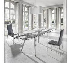 Mesas de jantar de vidro extensíveis Dining tables extendible glass www.intense-mobiliario.com  Dora http://intense-mobiliario.com/pt/mesas-vidro-ceramica/9866-mesa-extensivel-dora.html