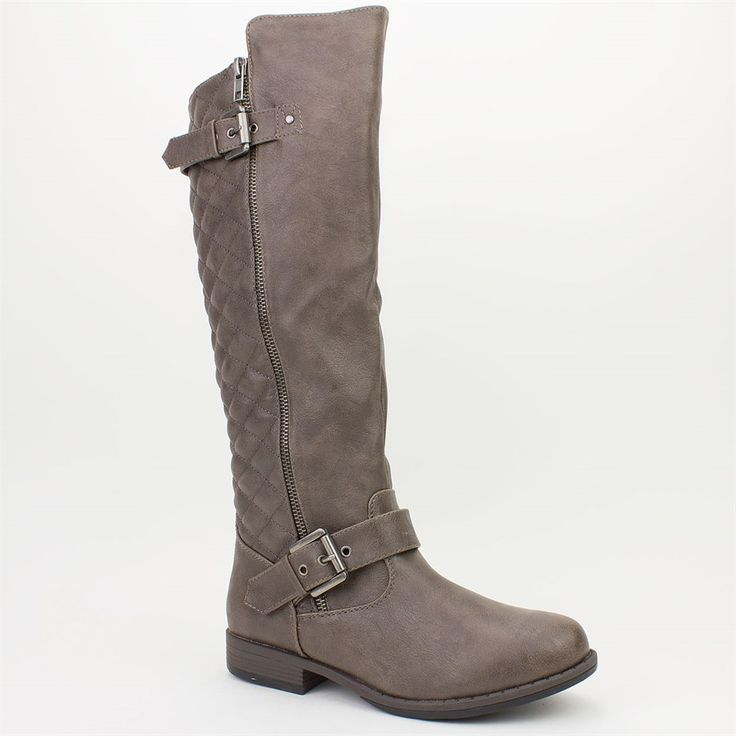 Quilted Fall Riding Boots: 3 Colors!   $29.99 on Jane.com