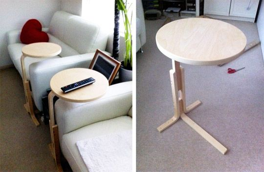Convert the Ikea FROSTA into the Perfect Laptop Desk #diy (I don't know about perfect, but definitely interesting/useful.)