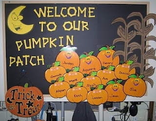 Halloween Bulletin Board Welcome to the Grade __ Pumpkin Patch ...