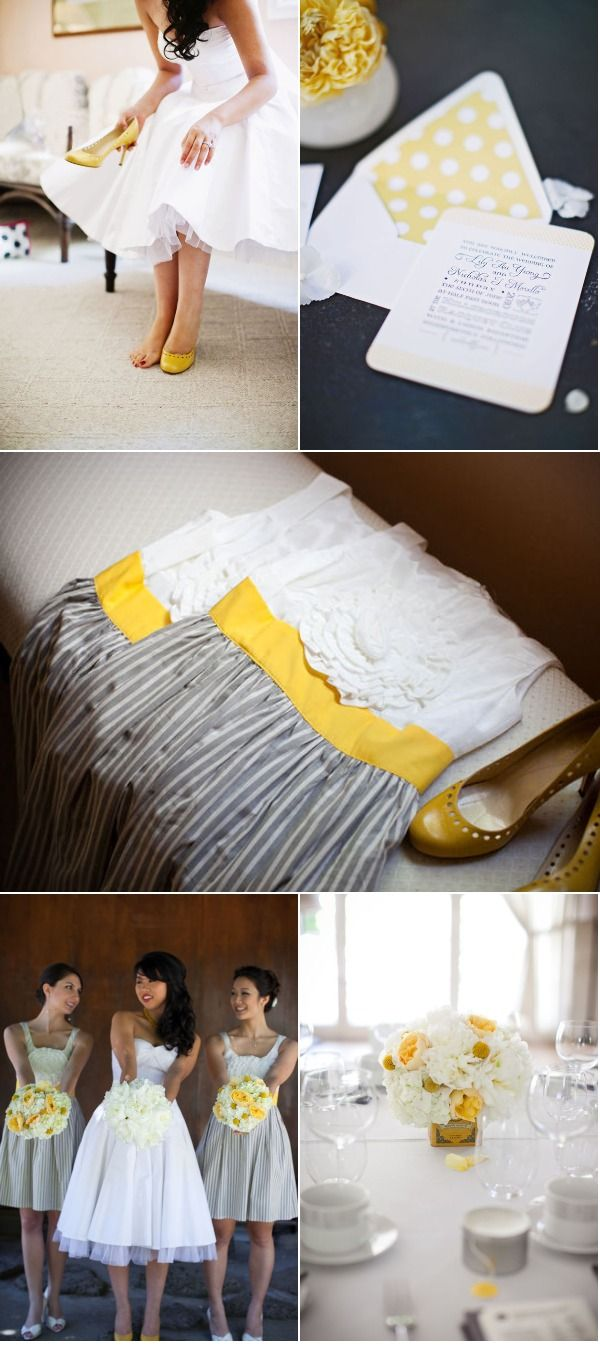 Bay Area Wedding by Jerry Yoon Photography. Yellow AccentsGrey ...