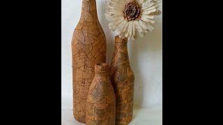 DIY Botella vintage:: Masking tape Vintage bottle (Diorizella Events & Crafts)