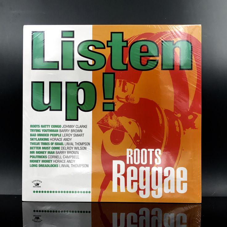 RARE: Listen Up! Roots Reggae - Roots Reggae Vinyl Record Compilation LP by VinylLoversUnite on Etsy