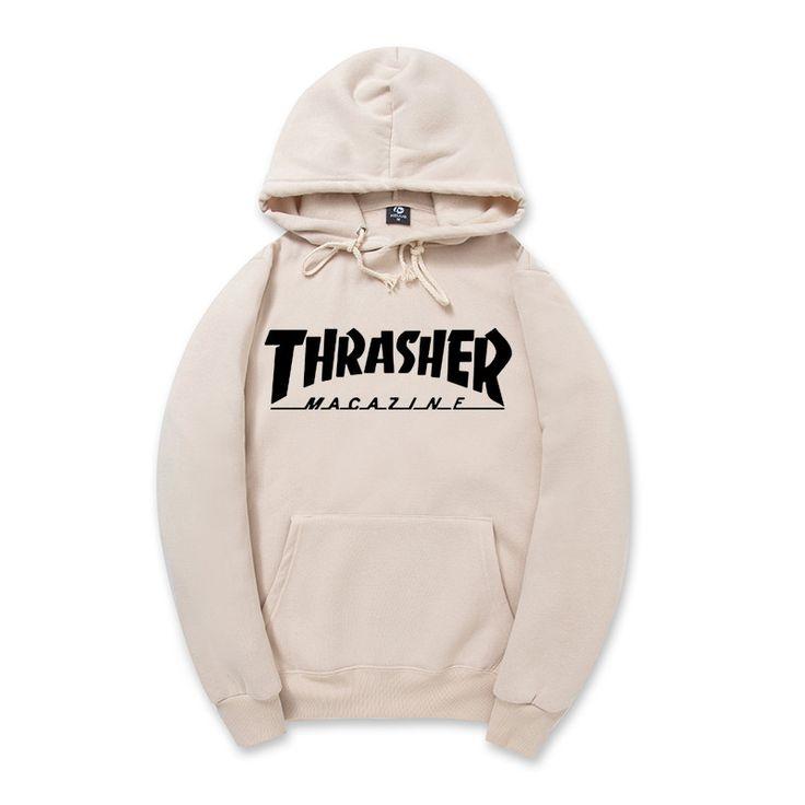 2016 New Fleece Autumn Winter Trasher Men's Hoodies Streetwear Skateboard Hip hop Hoody Thrasher Sweatshirt Men Women Sweat XXL <3 This is an AliExpress Affiliate Pin. La información detallada se puede encontrar haciendo clic en la imagen