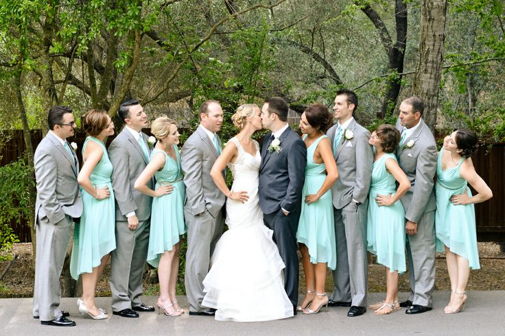 mint green bridesmaid dresses by LHC Couture | www.lhccouture.com