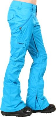 burton girl snowpants blue-ray  side - view. Frick yeah