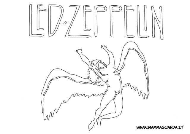 Led Zeppelin Coloring Pages Led Zeppelin For Coloring Da