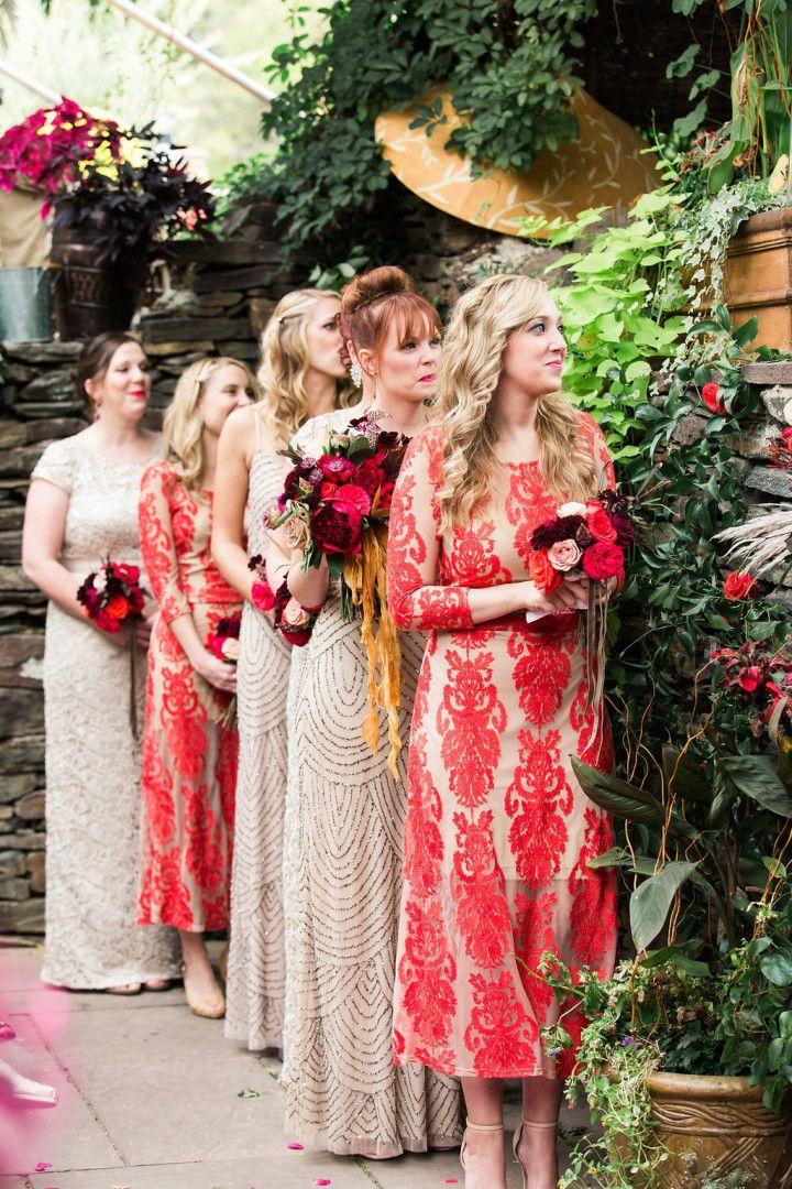 Marsala and Red Pennsylvania Wedding from Lauren Fair Photography - bridesmaid dresses