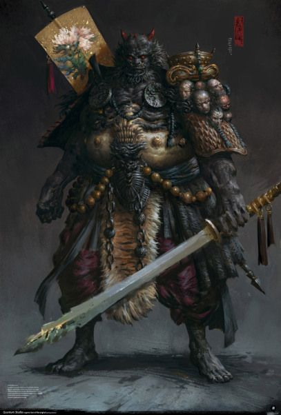 Be amazed by the details of the art made by Yang Qi, chinese concept artist