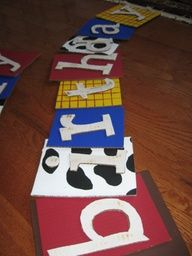 DIY toy story birthday party ideas   DIY Toy Story Birthday Banner (cardboard) Check out the website to see more