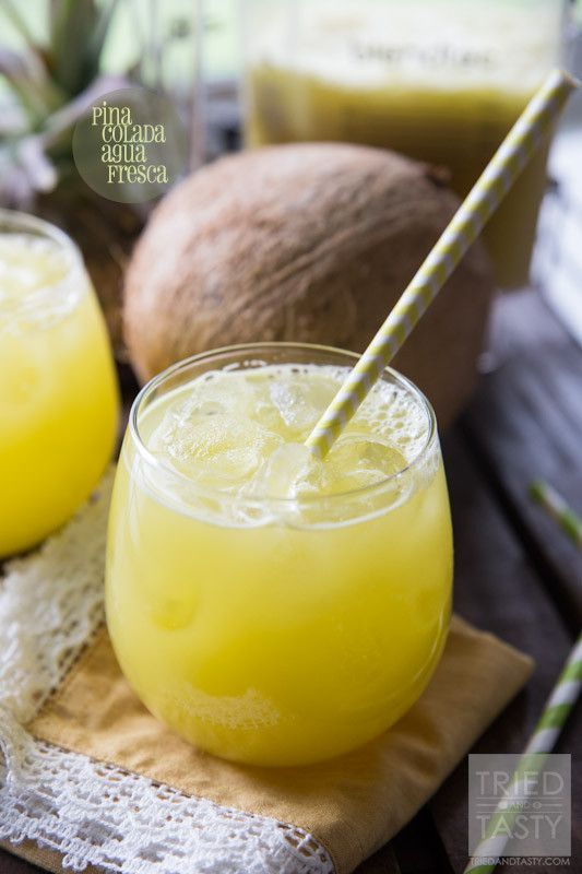Pina Colada Agua Fresca - It's all-natural, delicious, and really simple!