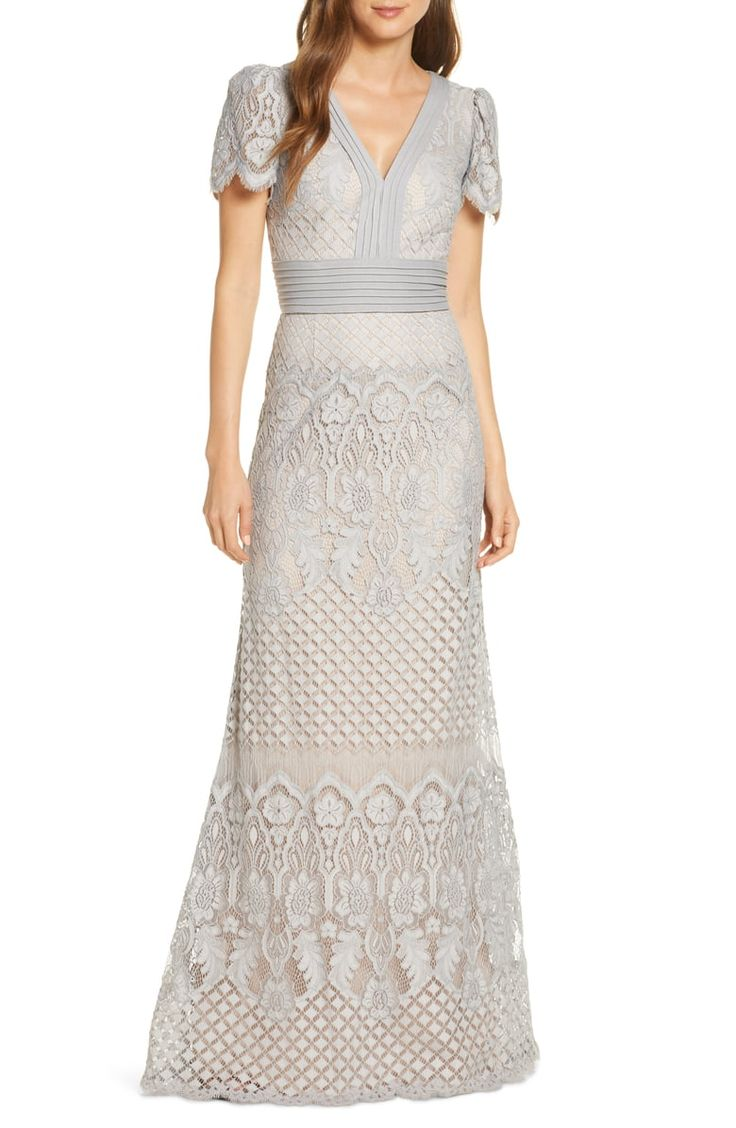 Tadashi Shoji Embroidered Lace Evening Gown Nordstrom Evening Gowns Lace Evening Gowns Evening Gowns Online [ 1128 x 736 Pixel ]