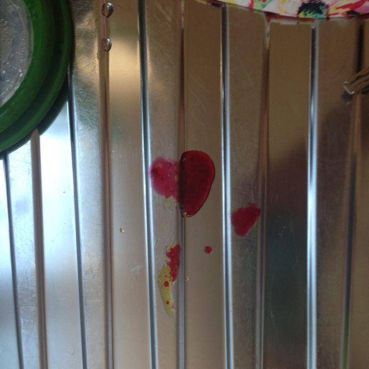 Beetroot juice on the draining board #MagicOfGod #Heart