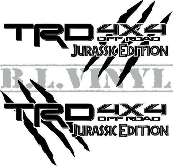 Jurassic Edition Trd 4x4 Off Road Decal Sets Dengan Gambar