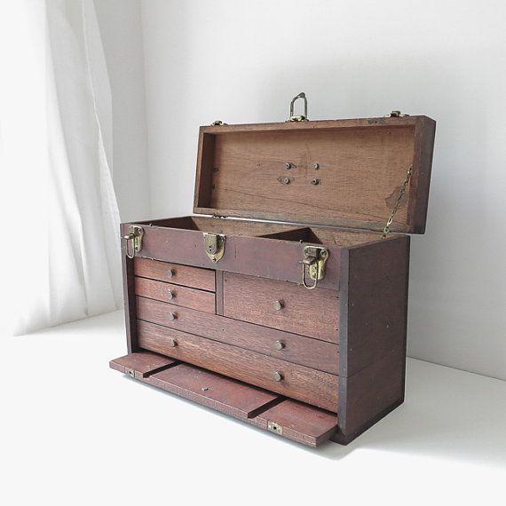 handmade machinist's tool chest / industrial by ohalbatross