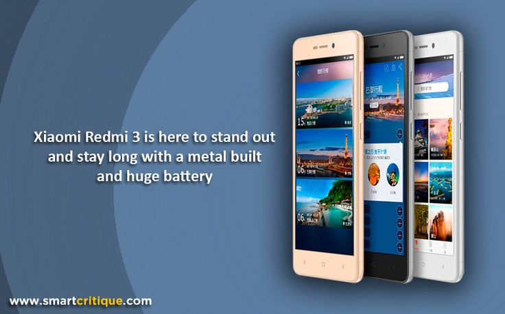 2015 saw the launch of many good smartphones that stole the show. This year, Xiaomi seems to be turning heads early with the launch of Xiaomi Redmi 3, which comes with a huge 4100 mAh battery power, but thats not quite the news. We have seen many phones with massive battery power, but Xiaomi looks like the first one to give so much at just USD159. The device is so competitively priced that it might give a tough knock off to many other smartphone companies